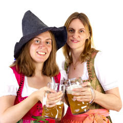 Clinking glasses at Oktoberfest