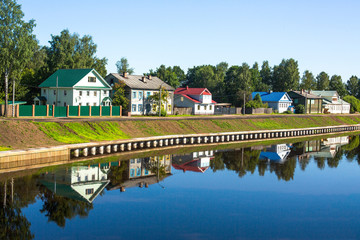 An ancient Russian town of Tikhvin.