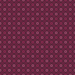Seamless Polka dot pattern made with circles - vector texture