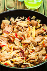 Pork in chinese with vegetables