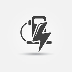 Vector electromobile Charge station symbol