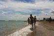 canvas print picture - giochi al mare