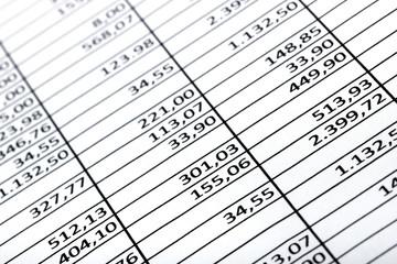 Tabelle Kostenberechnung