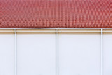 Rain gutter with drainpipes poster