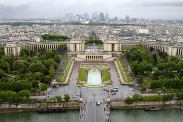 Trocadero - Panoramic view from the Eiffel Tower
