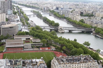 Panoramic view from Eiffel Tower in Paris