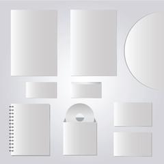 Vector templates set of corporate identity