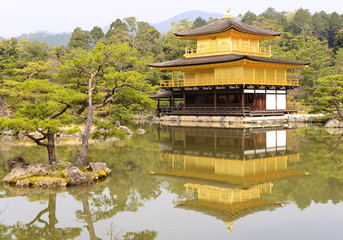 Golden Kinkaku-ji temple of Kyoto, Japan