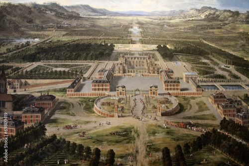 Versailles Palace And Gardens- Painting - 69809419