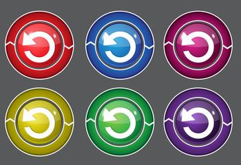 Reset Circular Vector Colorful Web Icon Set Button