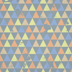 Seamless background with triangles and grunge texture