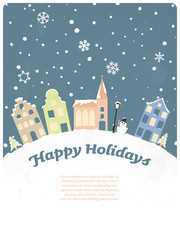 Happy Holidays Seasonal Greeting Card