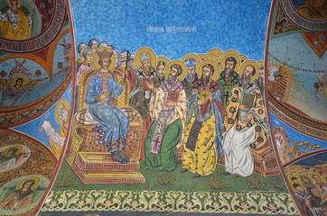 Exterior fresco of theRadu Voda Monastery, Bucharest