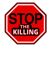 Stop the Killing Sign vector