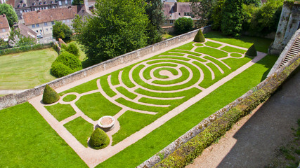 Chartres. France. Labyrinth.
