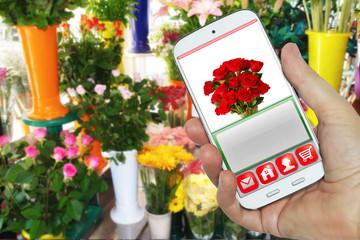 App fioraio su smartphone