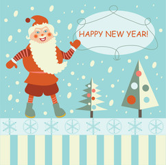 santa and happy new year