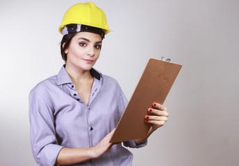 brunette woman engineer