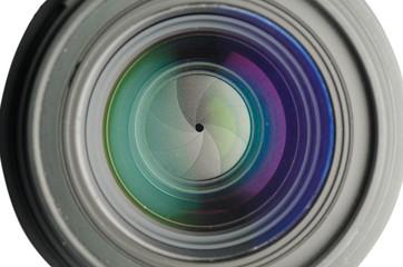 lente con diaframma chiuso