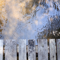 bridge wood plank above the river in nature