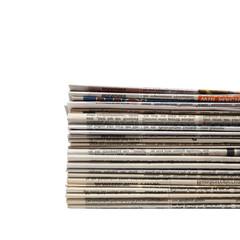 Freigestellte Zeitungen