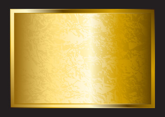 A gold plate isolated on black background
