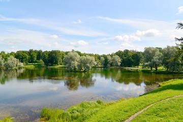 View of Lake Beloye in Gatchina park
