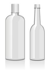 Vector illustration of empty bottles