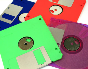 Floppy Disk magnetic isolated on white