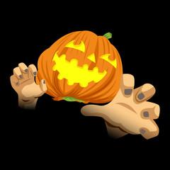 Cartoon illustration of Halloween ghost