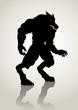 Silhouette illustration of a werewolf