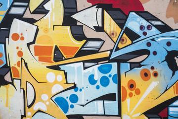 Murales vivacemente colorato