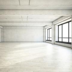 Empty clean loft