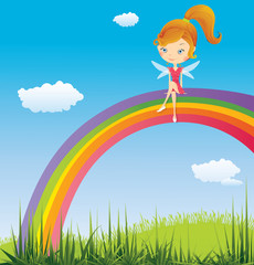 Fairy on a rainbow