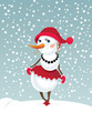 canvas print picture - Christmas snowman-girl
