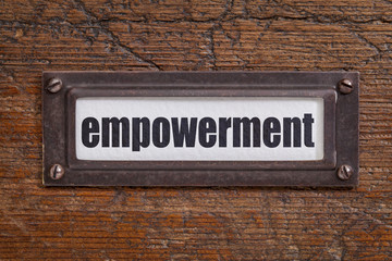 empowerment - file cabinet label