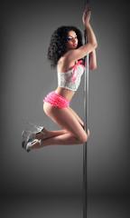 Sexy pole dancer