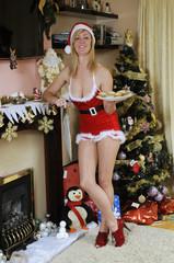 Santa's Christmas helper and freshly baked mince pies
