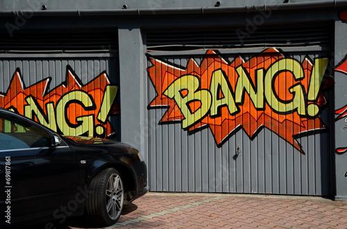 Leinwanddruck Bild Garaż