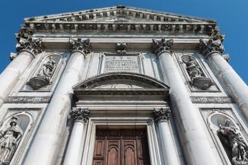 Venice - The portal of the church Chiesa dei Gesuati