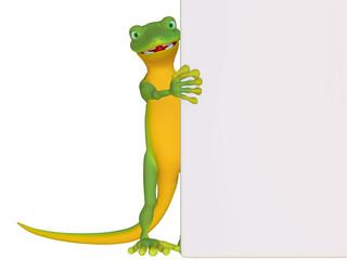 Gecko with a blank board