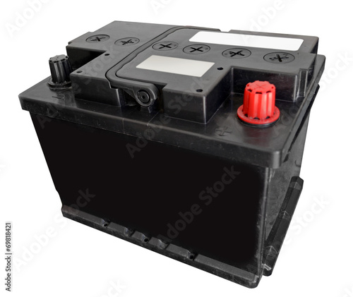 Car battery on white background - 69818421