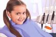 pretty little girl in dental office
