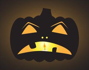 halloween Jack o Lantern Sad