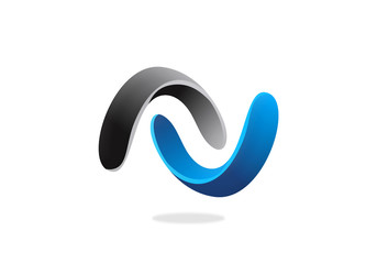 3D circle connect infinity vector logo