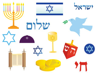 Jewish holidays icons
