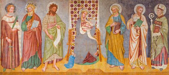 Treviso - Madonna and saints in saint Nicholas church