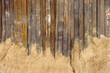 canvas print picture - Verrostete Stahltrennwand