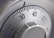 Leinwanddruck Bild - Safe combination dial