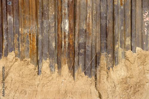 canvas print picture Verrostete Stahltrennwand